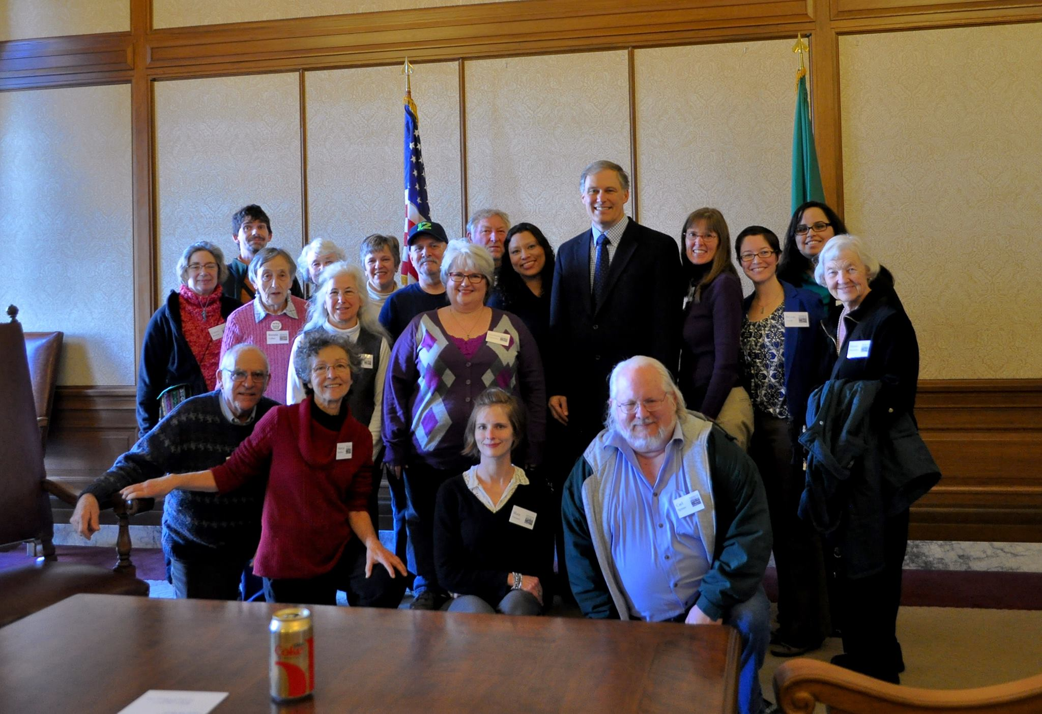 Jay Inslee meets with the Washington Coalition to Abolish the Death Penalty