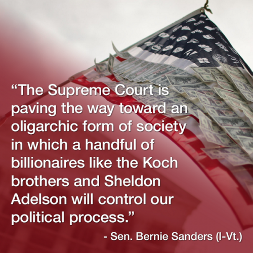 Senator Bernie Sanders on the McCutcheon decision