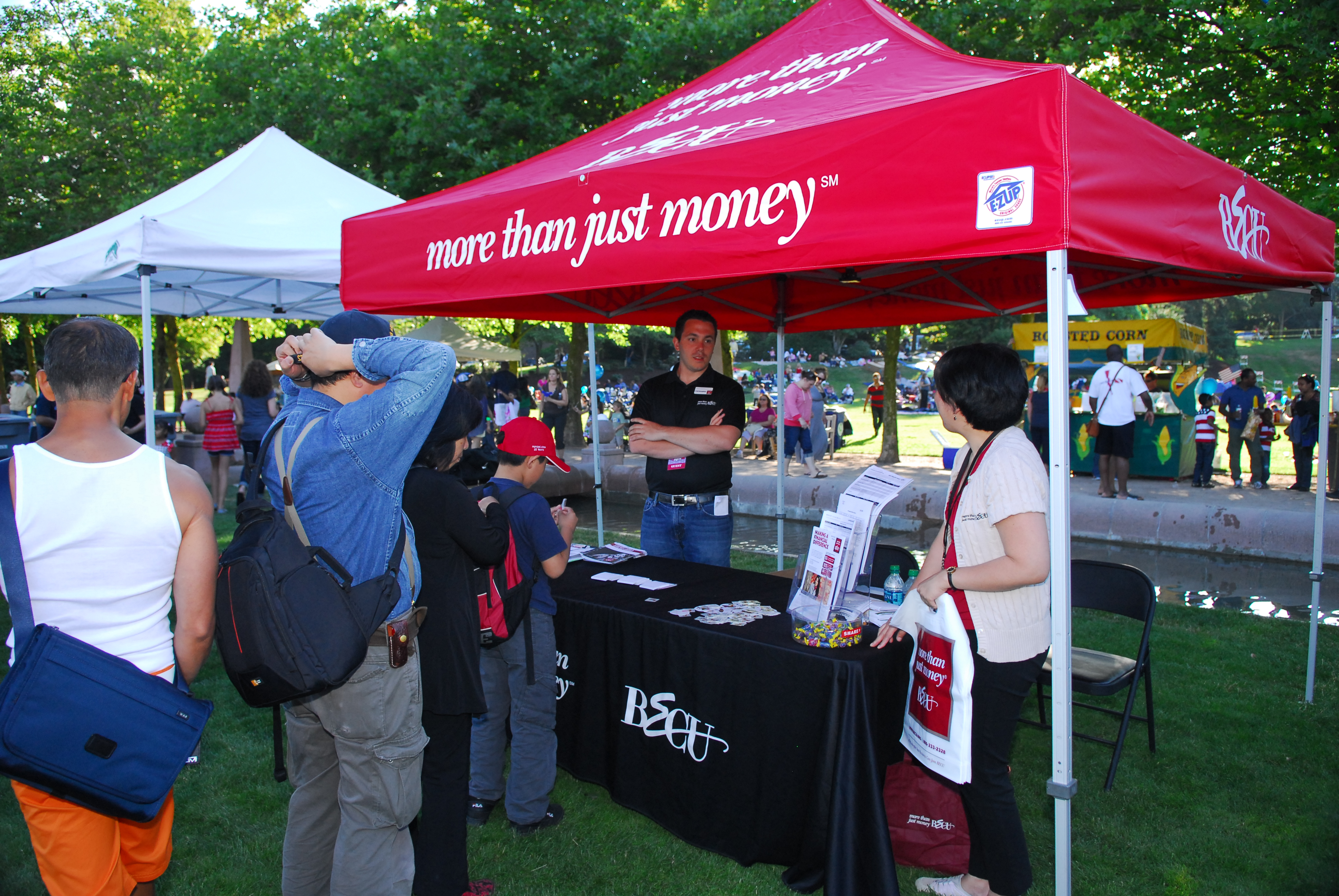 BECU booth at City of Bellevue's Fourth of July celebration