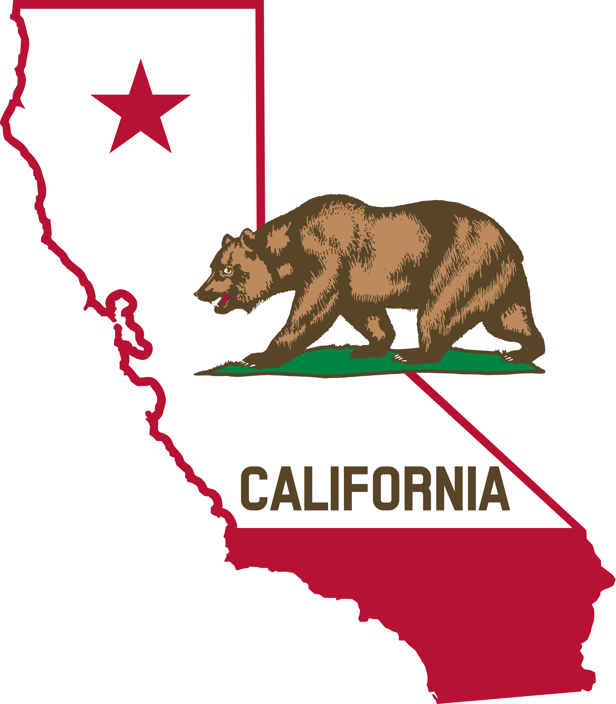California outline and flag