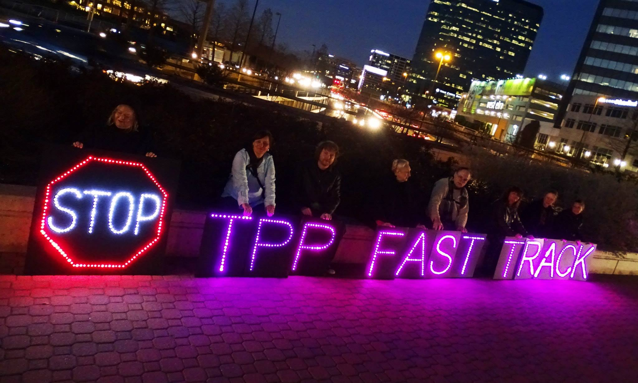 Stop Fast Track: Protest in Dallas