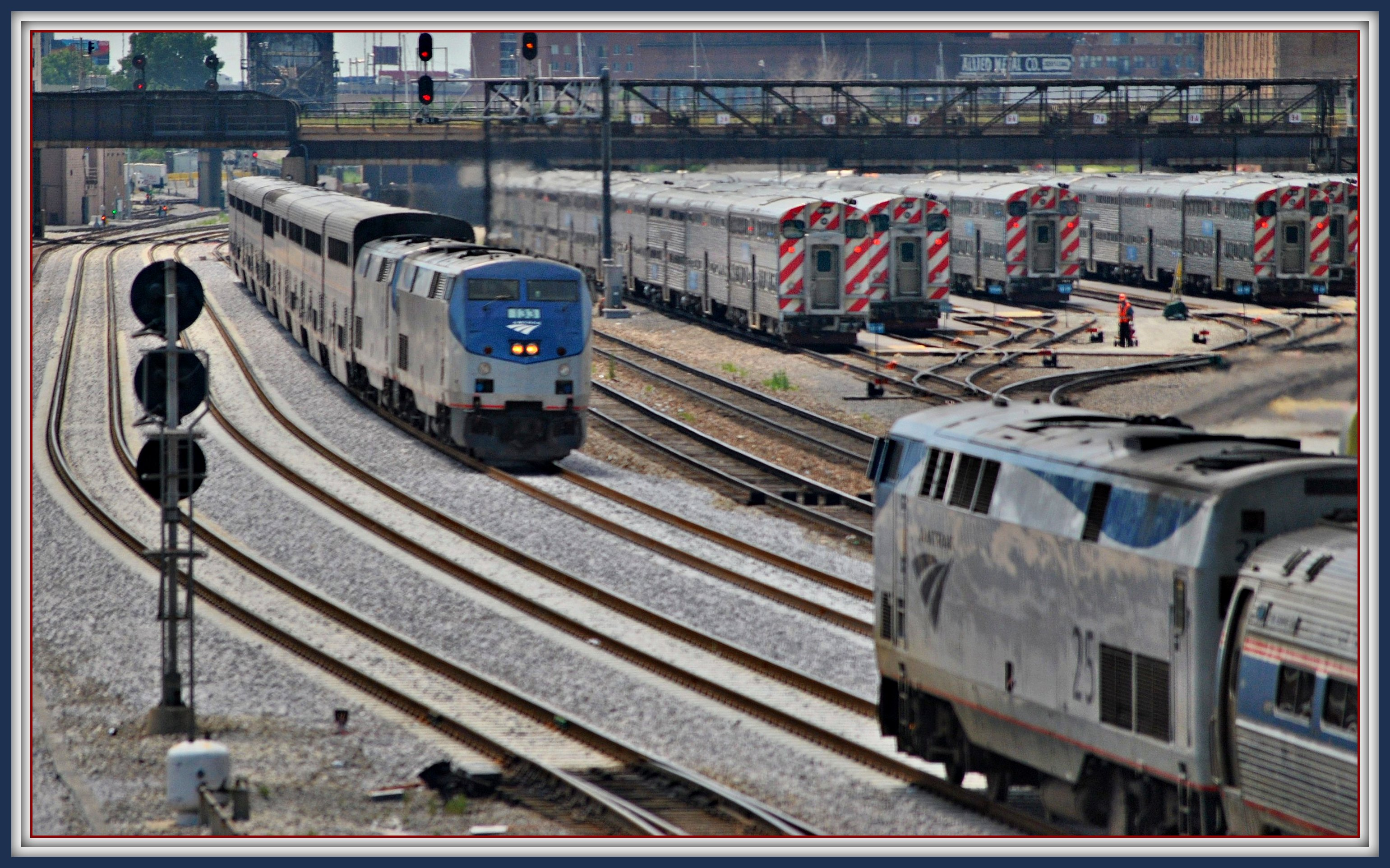 Amtrak comings and goings