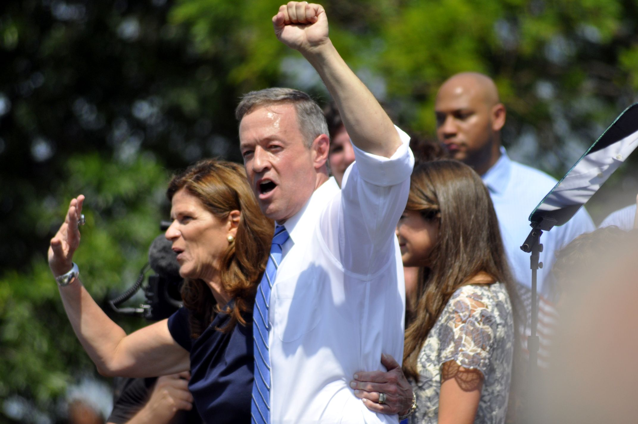 Martin O'Malley at his campaign kickoff