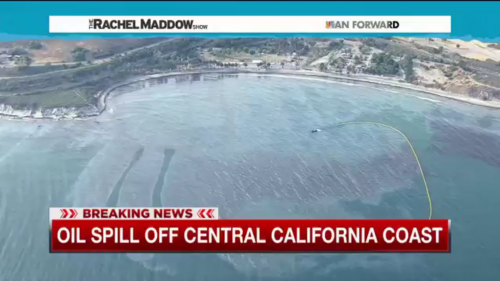 Oil spill along California coast