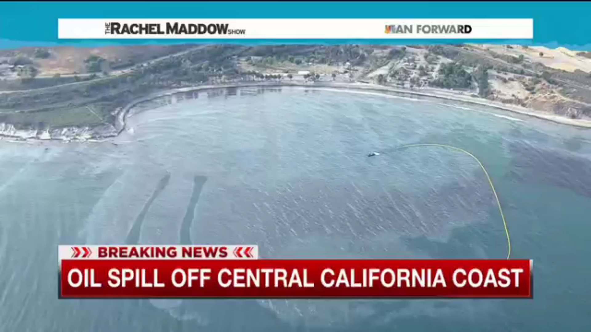 Oil spill along California coast