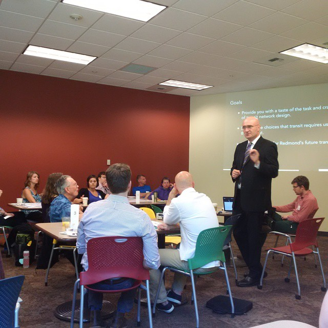 Jarrett Walker leads a workshop