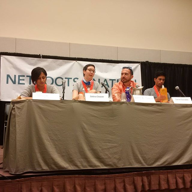 Debra Cleaver speaks during Epic Fail: A look at get-out-the-vote failures (so you don't repeat them) #NN15