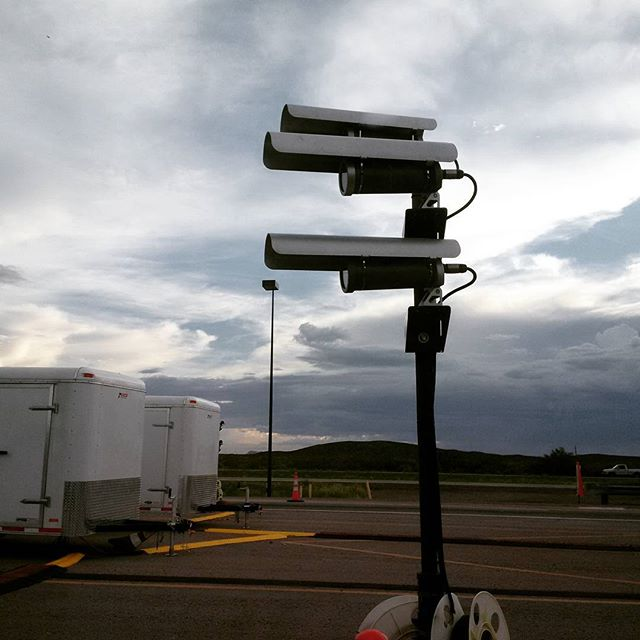 Big Brother is Watching You: Cameras peer at vehicle occupants at a mandatory U.S. Border Patrol checkpoint on I-25 in New Mexico
