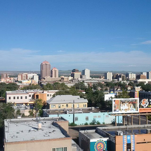 The skyline of downtown Albuquerque