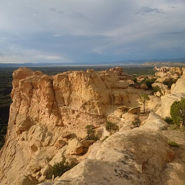 Sandstone bluffs at El Malpais National Monument in New Mexico