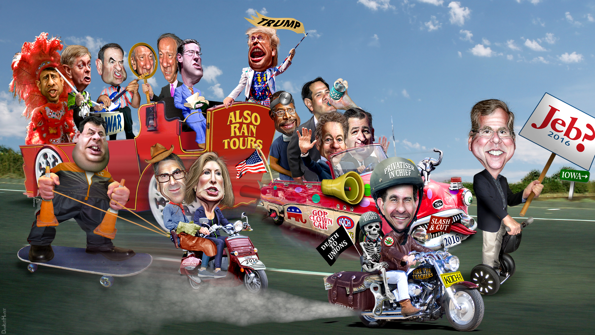 Republican Clown Car