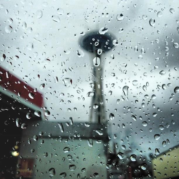 A rainy window in Seattle