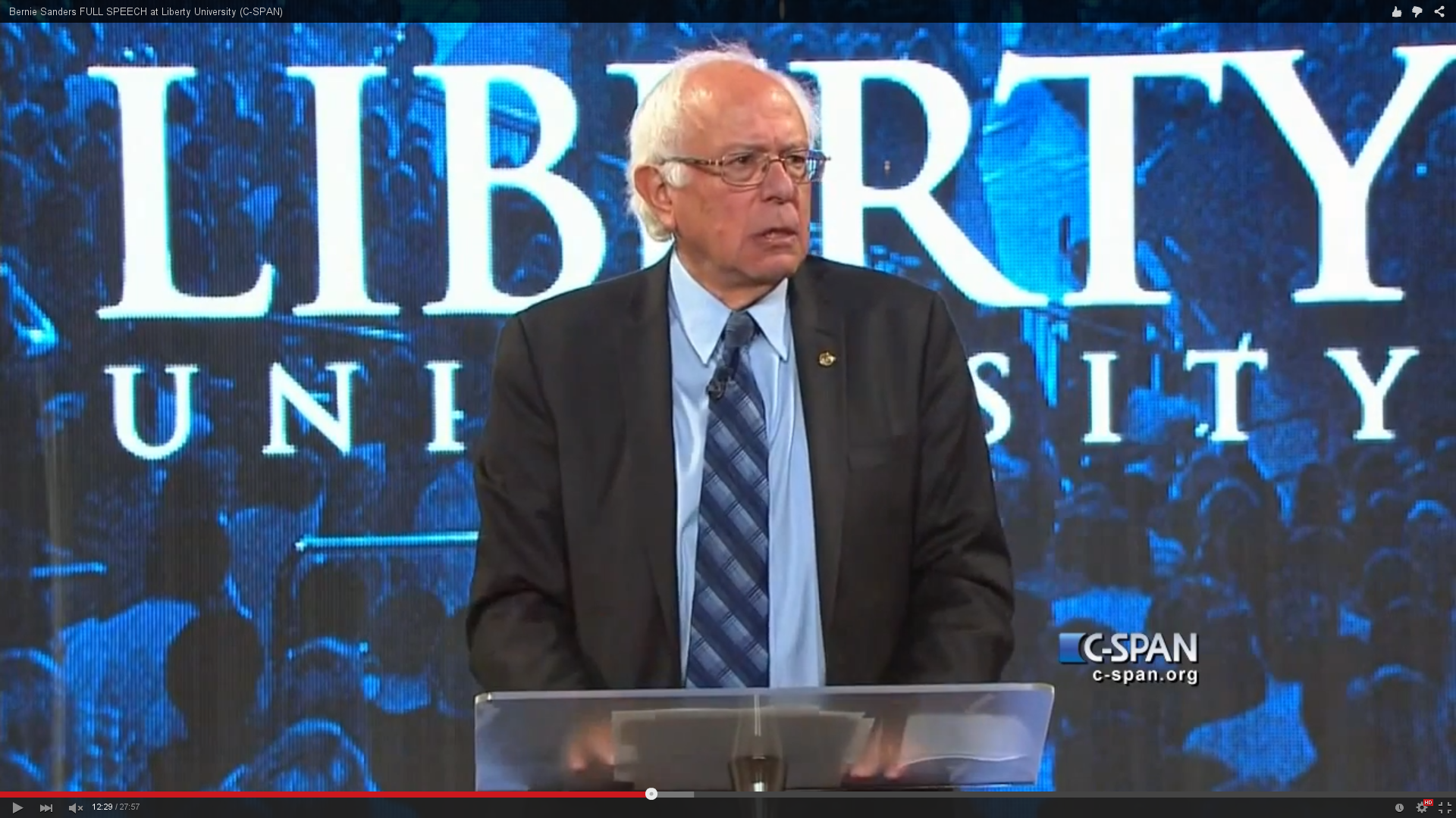 Bernie Sanders at Liberty University