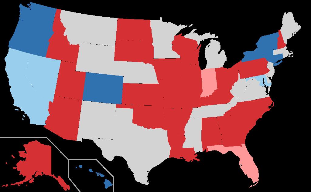 U.S. Senate Map in 2016