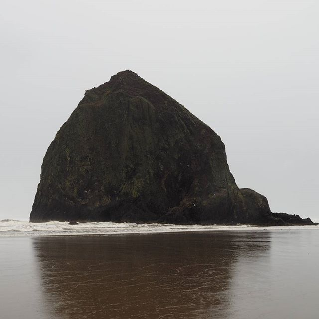 Haystack Rock, Cannon Beach, on a stormy morning