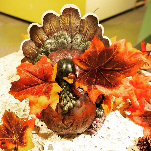 Autumn decorations at NPI headquarters in Redmond