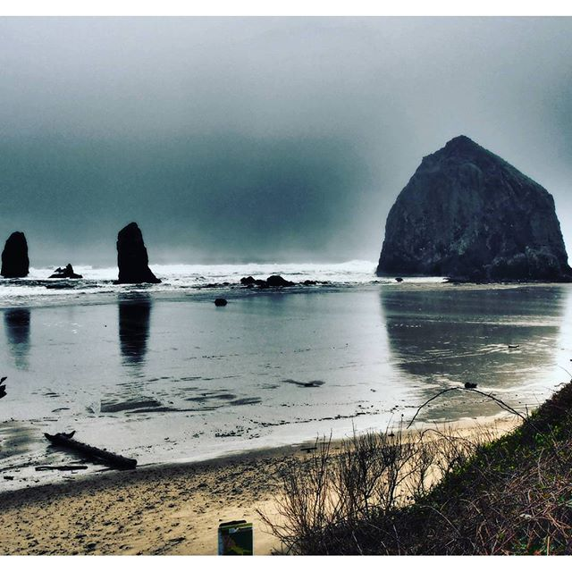 Haystack Rock and The Needles (Filters: Dramatic Tone, Clarendon)