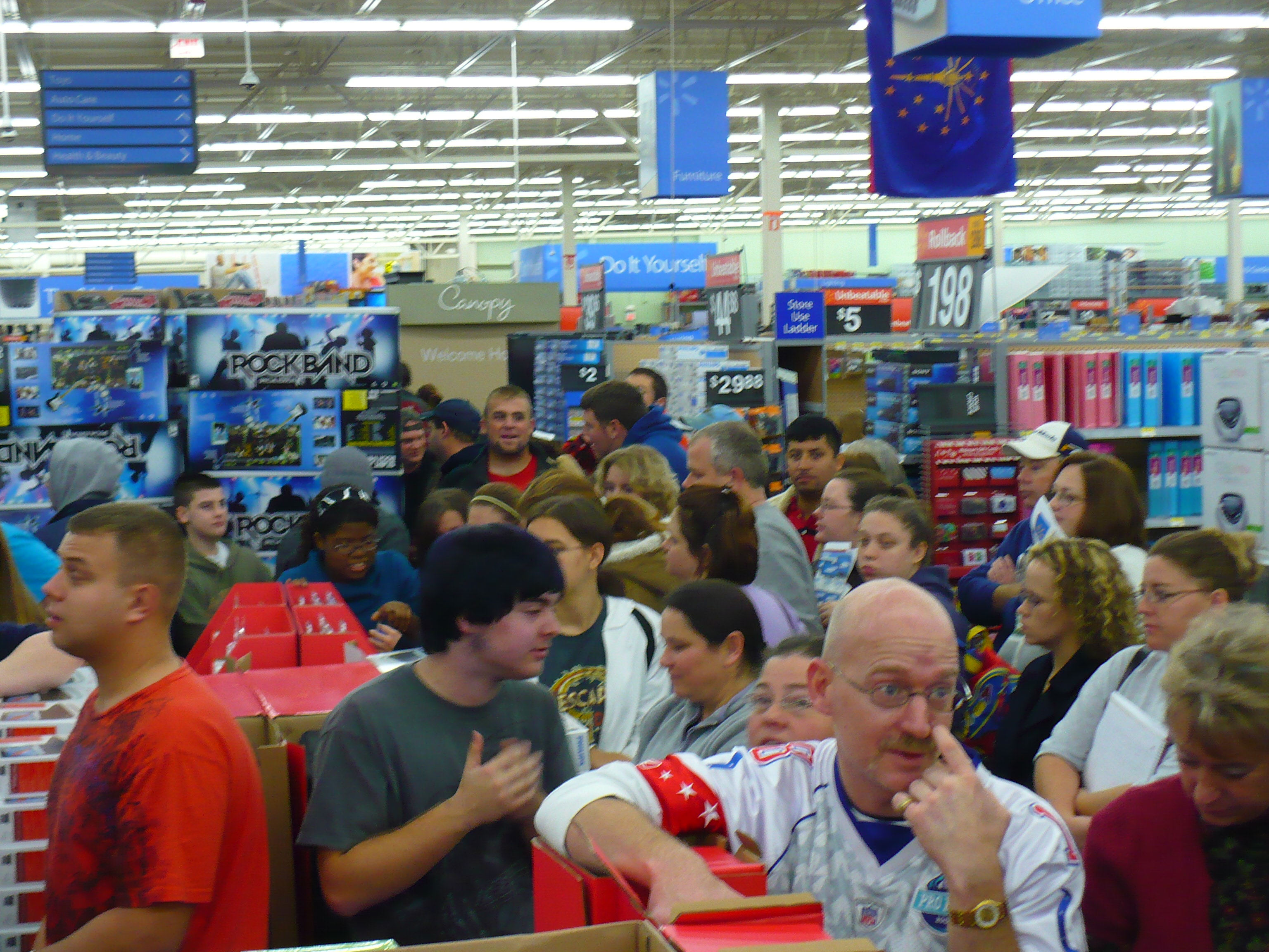 A Wal-Mart on Black Friday