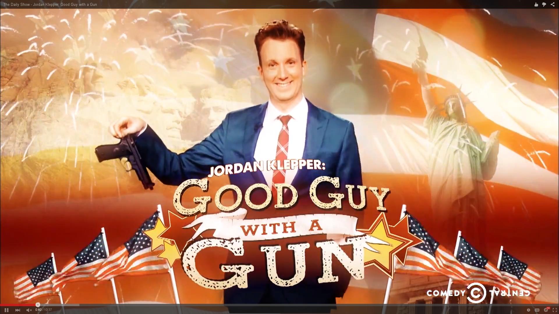 Jordan Klepper: Good Guy with a Gun