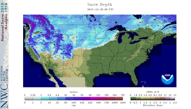 Snow depth map