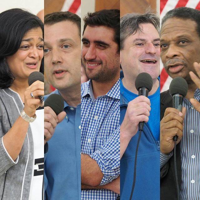 Five Democratic candidates so far are vying to succeed Jim McDermott: Pramila Jayapal, Joe McDermott, Brady Walkinshaw, Jeff Stilwell, and Donovan Rivers