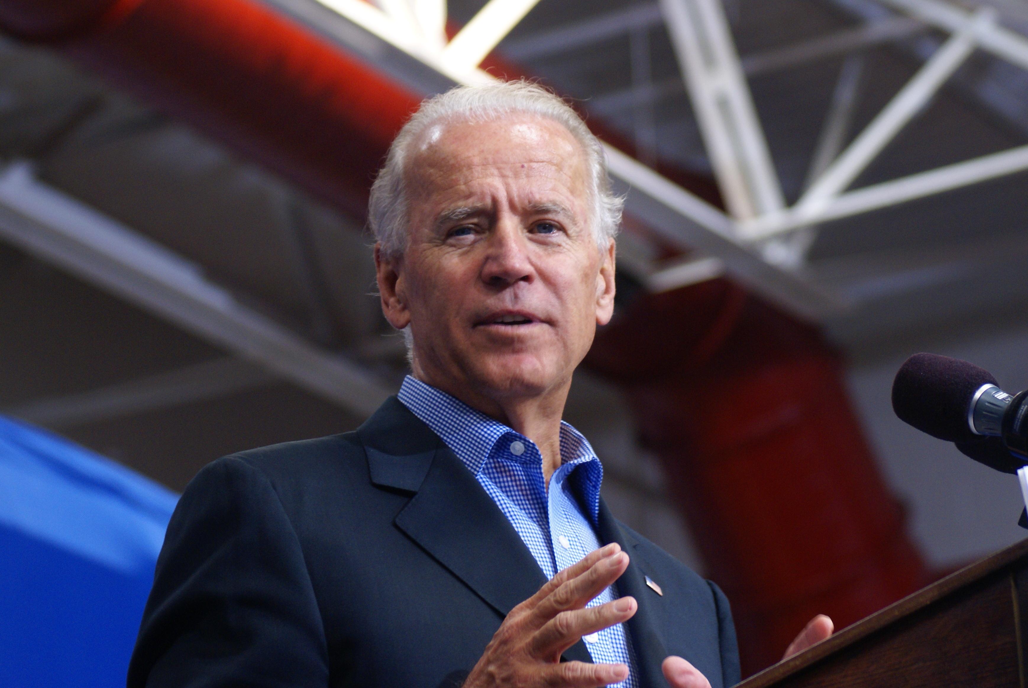 Joe Biden speaking in New Hampshire
