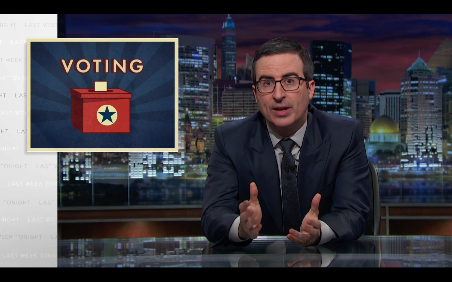 John Oliver on voting in the United States