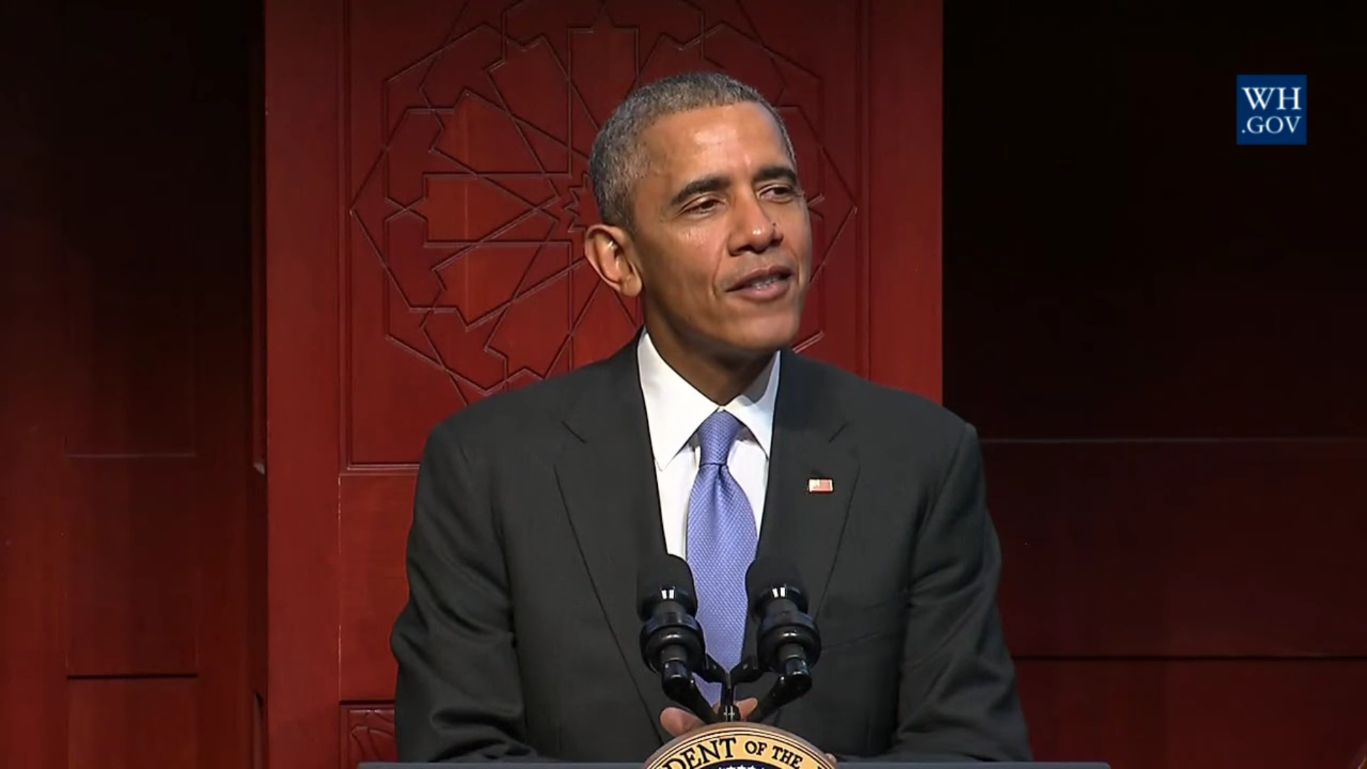 The President speaks at the Islamic Society of Baltimore