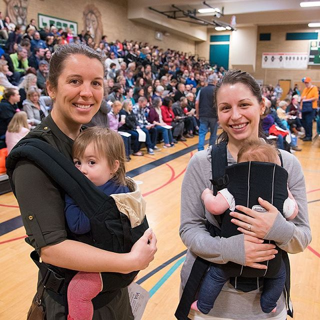 Moms and their children at a Democratic caucus in Woodinville (Photo: Lincoln Potter/Samaya LLC)