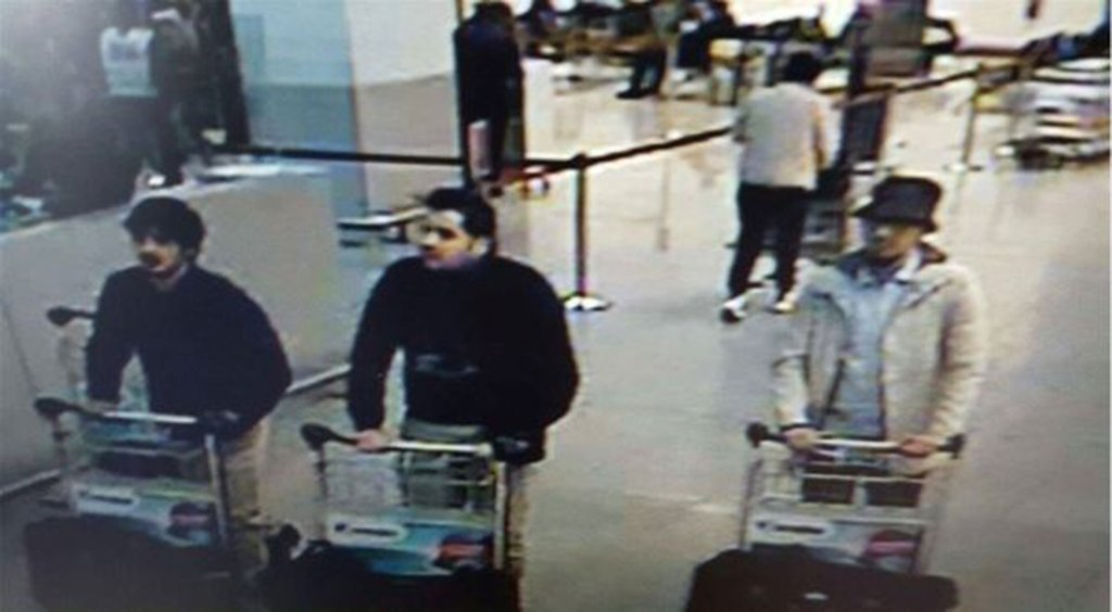 Surveillance photo of Brussels suicide bombers
