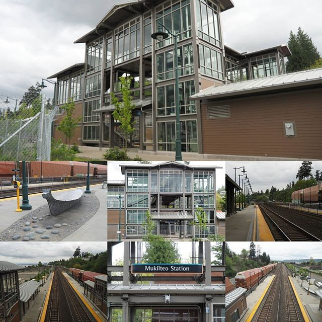 Montage of the newly completed Sounder Mukilteo Station