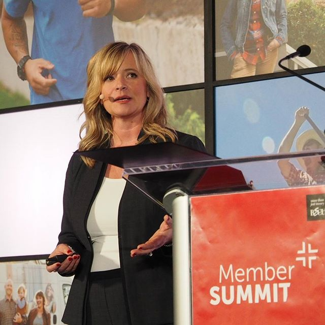 BECU SVP/CFO Kathy Elser speaks during the credit union's first annual Member Summit