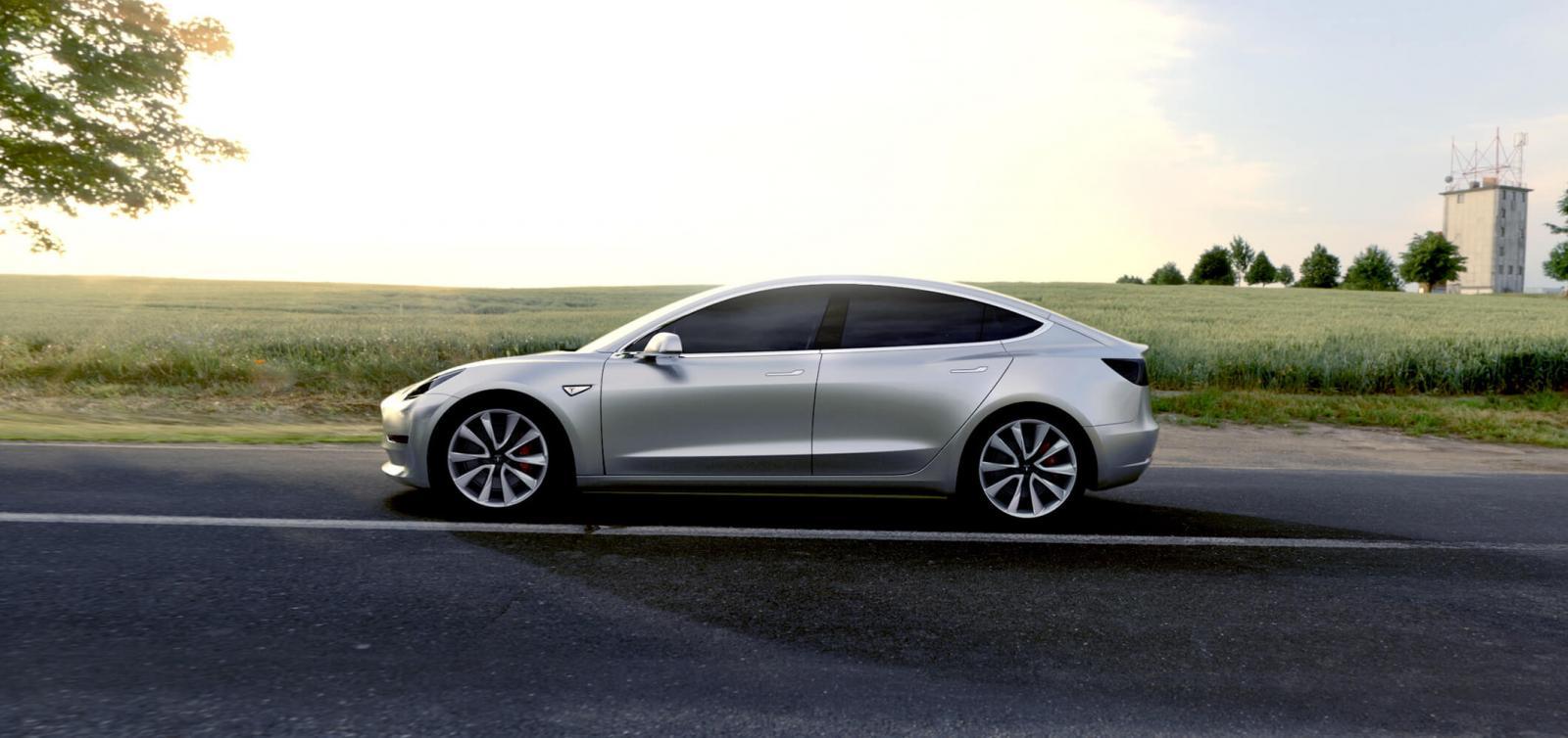 Tesla Model 3 publicity photo