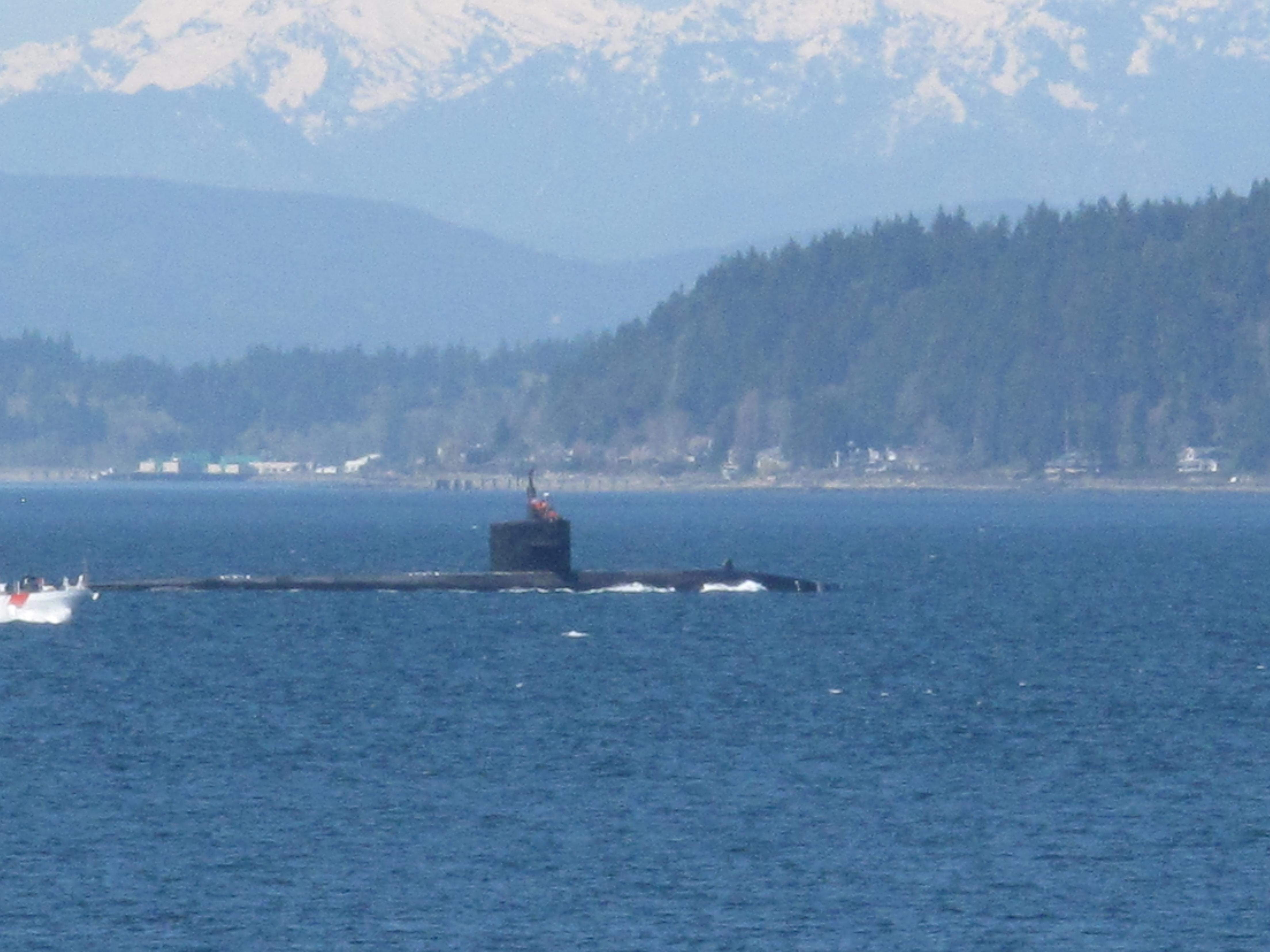 Nuclear submarine near Naval Base Kitsap
