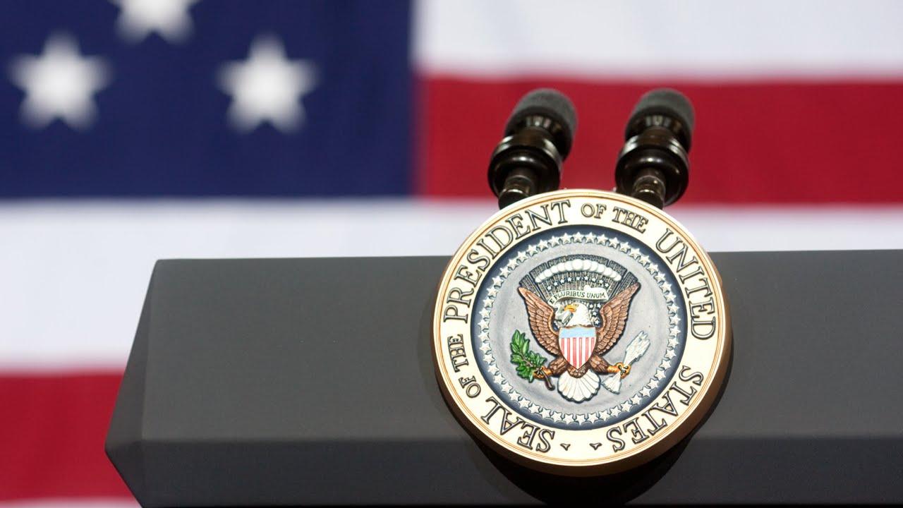 Presidential Seal on Podium