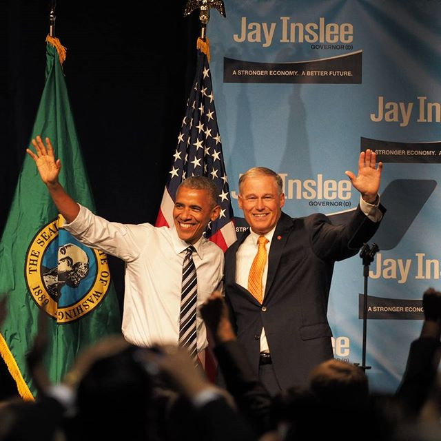 President Obama At Netroots >> President Obama and Governor Inslee greet thousands of cheering supporters – In Brief