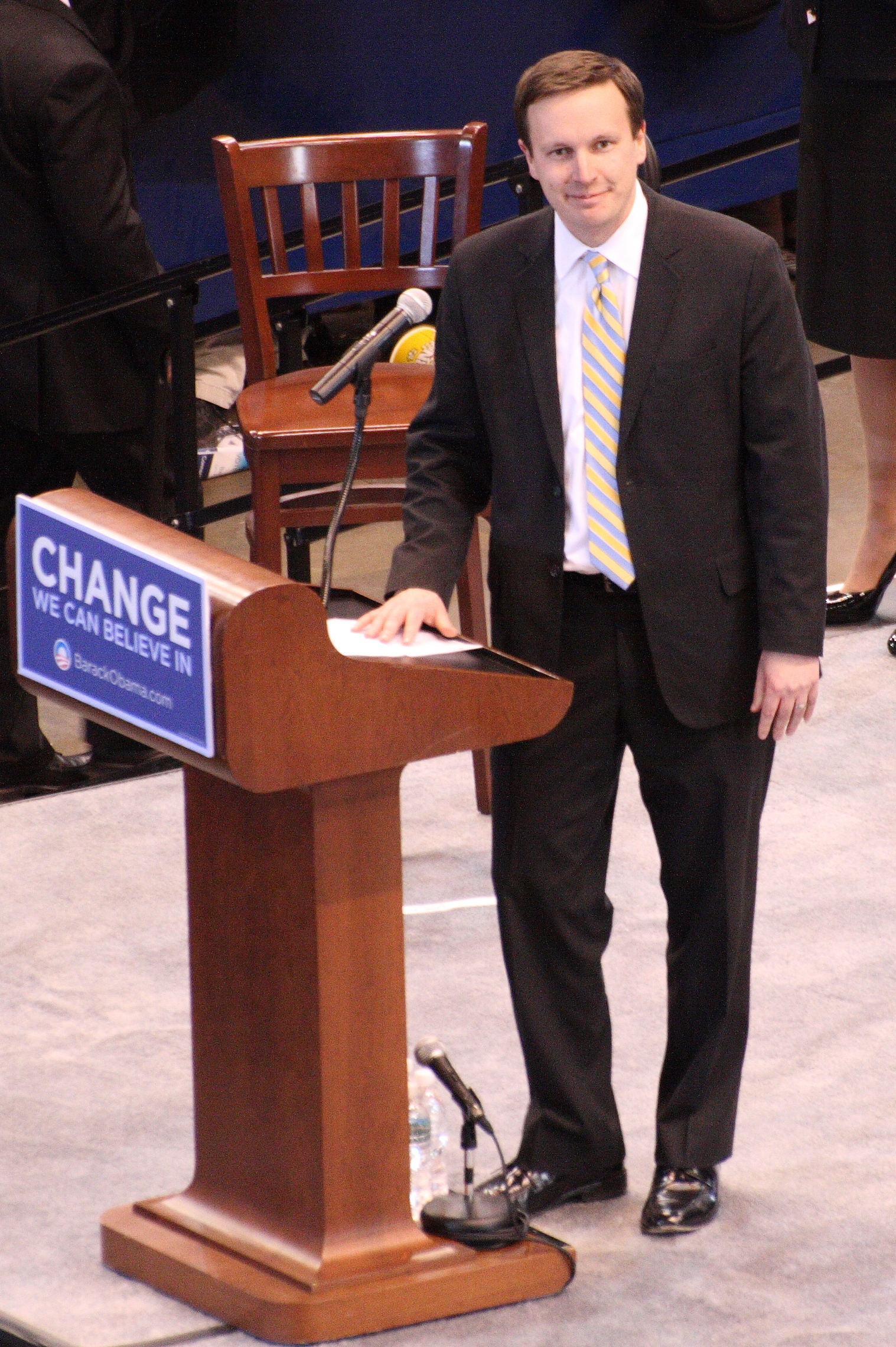 Chris Murphy at an event for Barack Obama