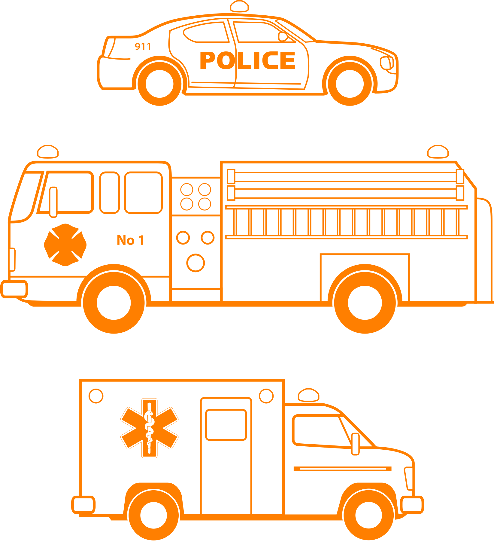 Police, fire, and EMS