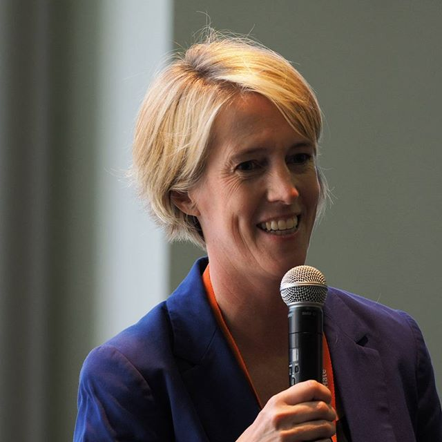 Democratic congressional candidate Zephyr Teachout speaks at a reception at Netroots Nation #NN16
