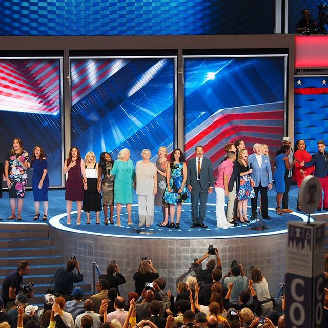 Broadway stars perform at the 2016 Democratic National Convention