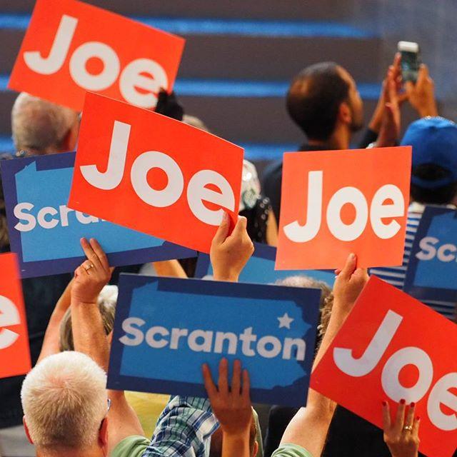 """We love you, Joe!"": Democratic delegates greet Vice President Joe Biden"
