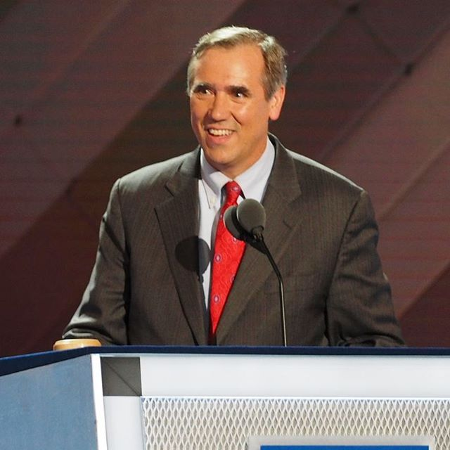 U.S. Senator Jeff Merkley of Oregon appeals for unity at the 2016 Democratic National Convention