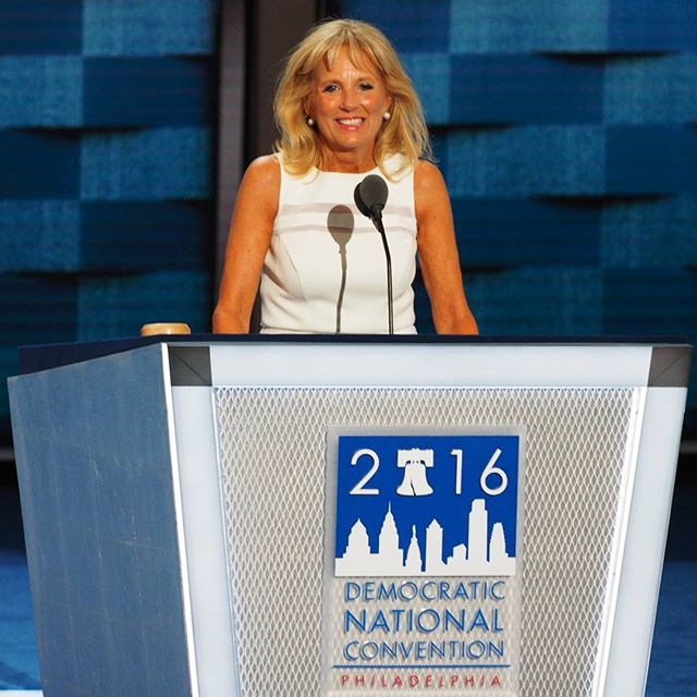 Second Lady Jill Biden speaks at the 2016 Democratic National Convention