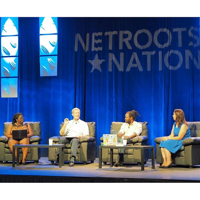 Jacqui Patterson, Anthony Rogers-Wright, Tom Steyer, and Michelle Romero discuss climate justice strategies #NN16