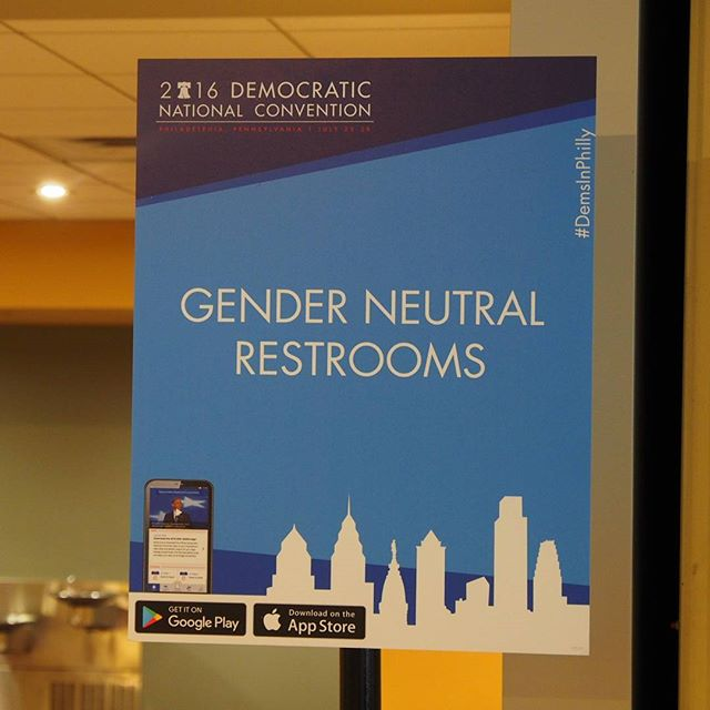 Transgender-friendly washrooms at the 2016 Democratic National Convention