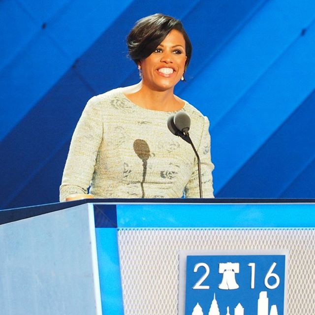 Mayor Stephanie Rawlings-Blake, substituting for Debbie Wasserman Schultz, calls the 2016 Democratic National Convention to order