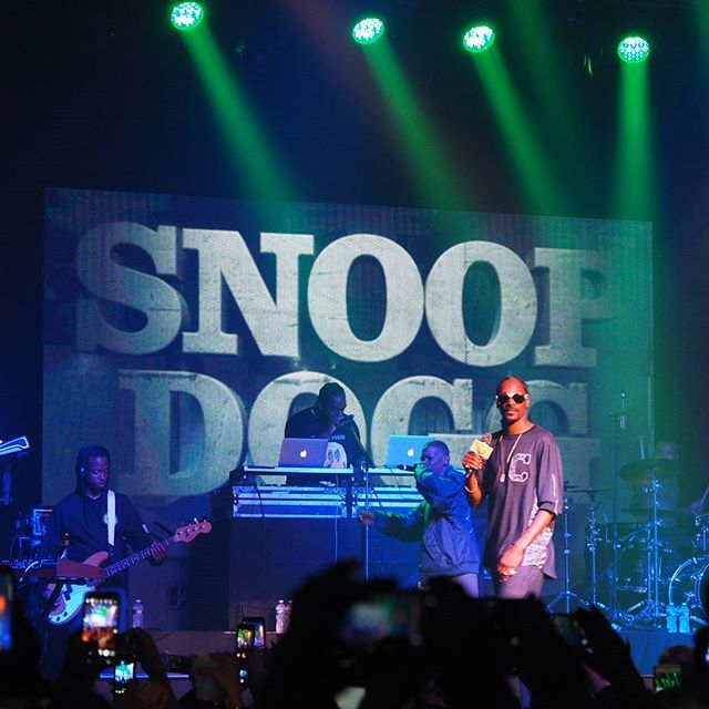 Snoop Dogg performs at a unity concert following the Democratic National Convention