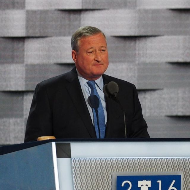 Philadelphia Mayor Jim Kenney addresses the 2016 Democratic National Convention