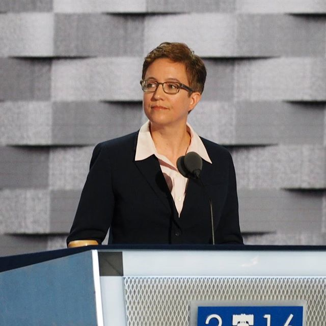 Oregon House Speaker Tina Kotek addresses the 2016 Democratic National Convention