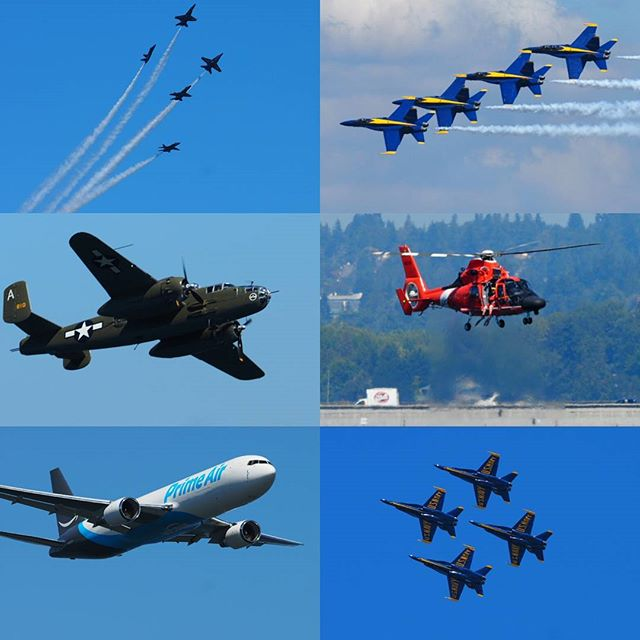Scenes from this weekend's Boeing Air Show over Lake Washington
